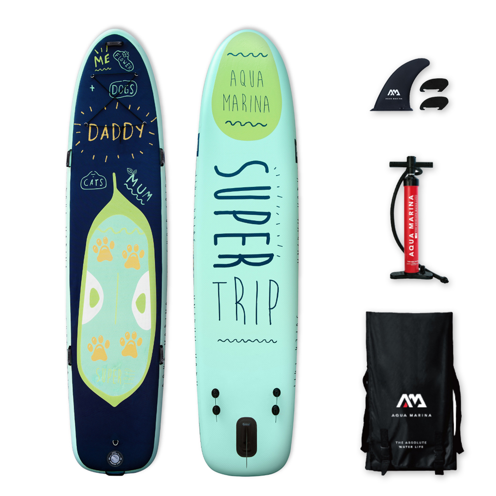 Aqua marina super voyage 12' Gonflable SUP Stand up Paddle Board famille sup