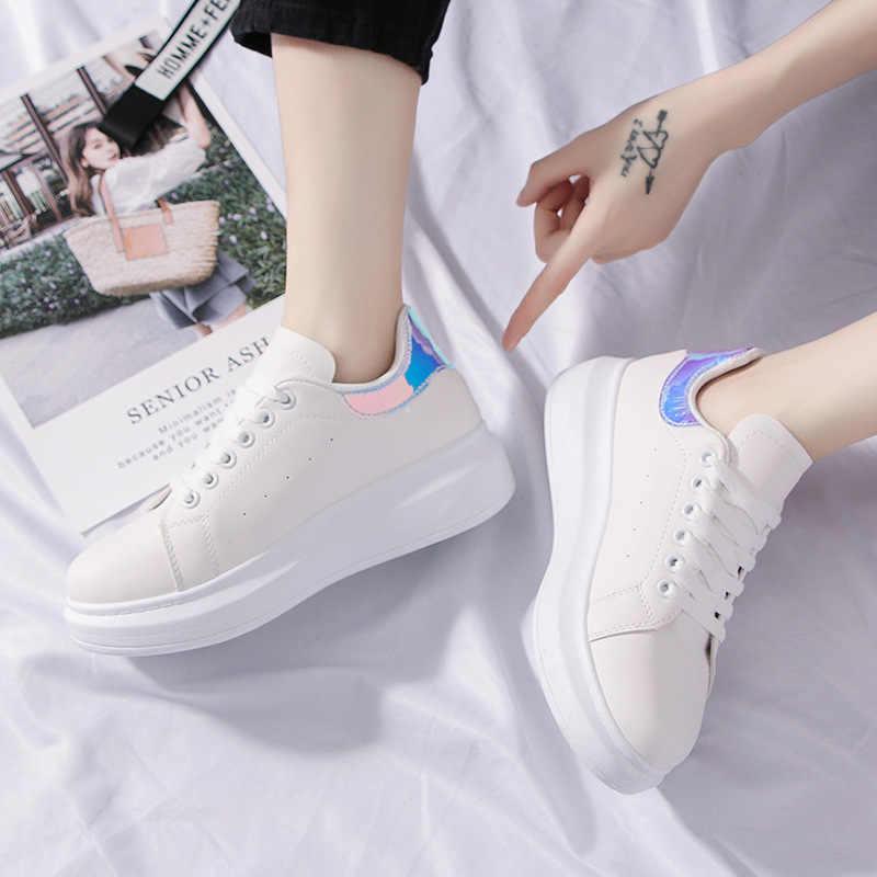 תנ נשים אופנה סניקרס 2019 Dropshipping קיץ חדש קוריאני גרסת פנאי נעלי סטודנטיות קטן לבן נעליים