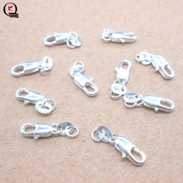 10pcs/Lot Fashion Jewelry Accessories Gold/Silver Color Lobster Buckle For Necklace Bracelets Jewelry Hooks