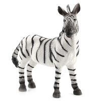 Simulation African Zebras Animals Static Model Action Figures Lifelike Wild Animals Zebra Model Toys Educational Toy for Kids