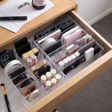 Boîte de réception de produits cosmétiques, ombre à paupières, poudre pressée, maquillage, coussin dair, rouge à lèvres, étagère avec tiroir