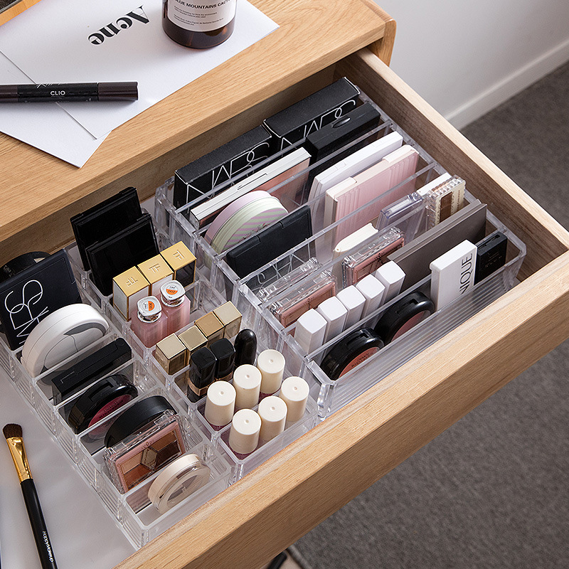Cosmetics receive a box of pressed powder eye shadow boxes makeup air cushion lipstick receive rack drawer space-in Makeup Organizers from Home & Garden