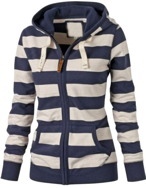 e3a297b03 Gclear Women s Active Casual Striped Zip Up Hoodie Jacket-in Hoodies ...