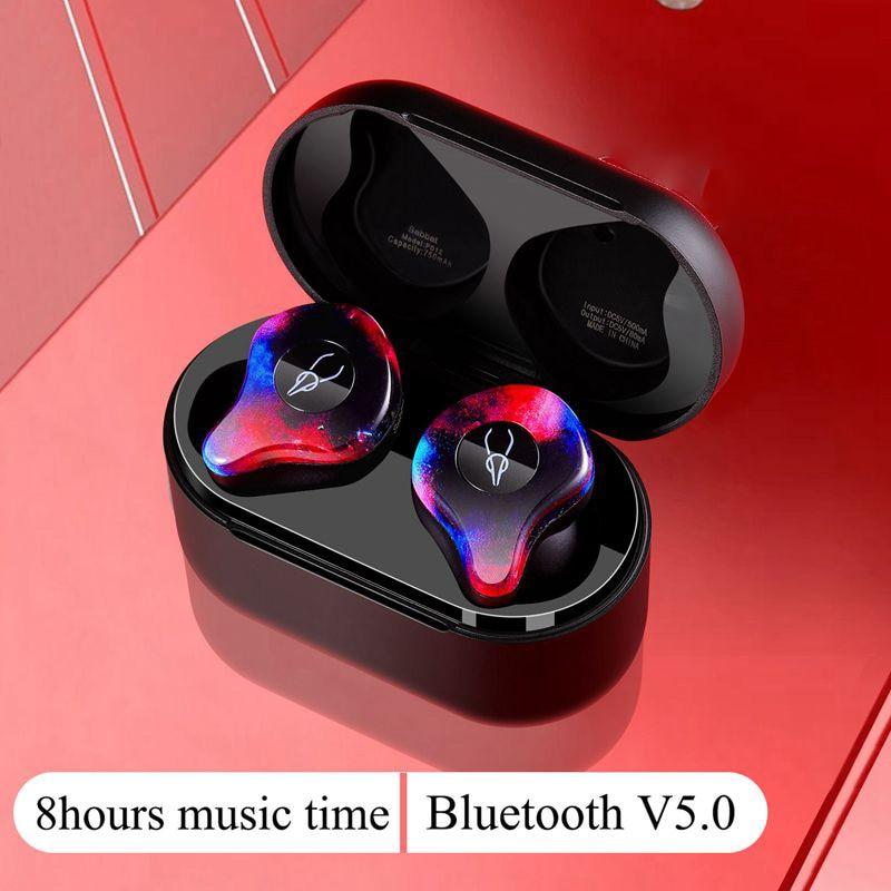 New Mini BLuetooth Earphone Port Cordless Wireless Earbuds Stereo in ear Bluetooth 5.0 Waterproof Wireless ear buds headset