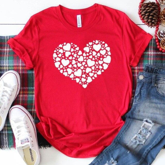 4d67fe743 Valentines Shirt Graphic Tees Women XOXO T Shir Valentines Tshirt Valentines  Day Gift Love Shirt Short Sleeve Tops Cotton Tee