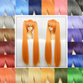 Synthetic Anime Cosplay Wigs Full Lace 35-40cm Short Hair +2 Long Clip in 90cm Straight Ponytails High Temperature Fiber Wigs