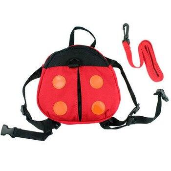 ISKYBOB Walking Safety Backpack Harness Reins Toddler Bag For Kids Children Ladybug School Bags
