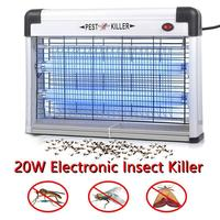 Elektronik kapalı açık sivrisinek katili UV lamba 20W ev elektrik çarpması sivrisinek lamba uzun ömürlü sivrisinek kovucu