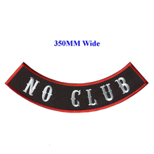 NO CLUB motorcycle biker patches iron on patches for full back jackets clothing embroidery rocker patches in stock