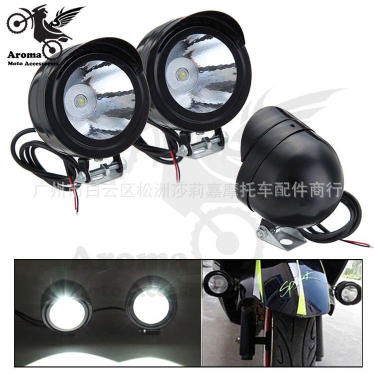 1 PCS scooter motorcyle headlight additional white ATV Off-road dirt pit bike motocross moto LED light external scooter lighting ...