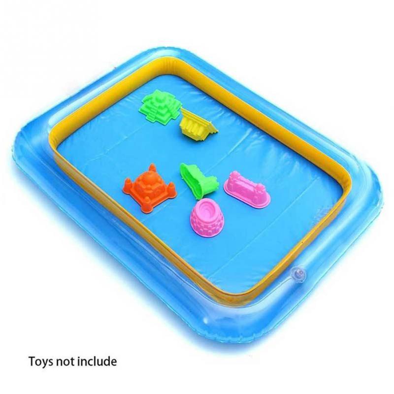 Inflatable Large Castle Sand Box Kids Toys Storage Table Pool