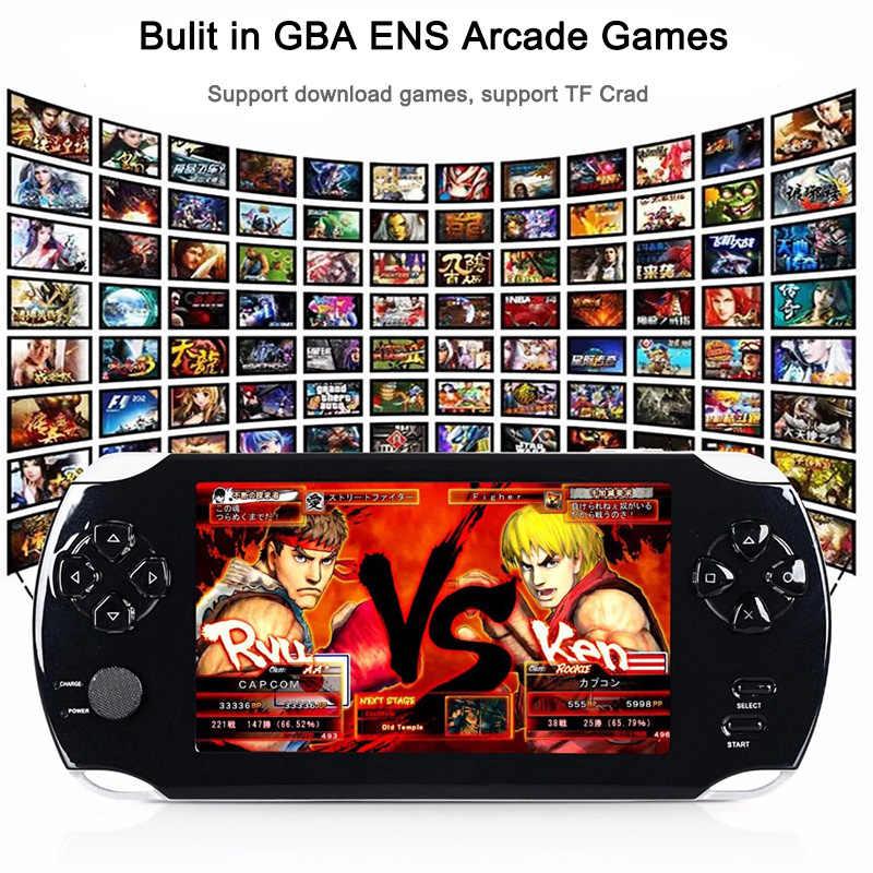 Console de jeu vidéo de poche 32bit jeux classiques noir rétro Portable 8GB lecteur de Console de jeu 4.3 pouces avec support d'appareil photo MP3