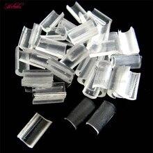 2000 шт. Fusion Кератин ногтей Подсказка клей Rebonds/re-облигации для волос tranparent белый Цвет