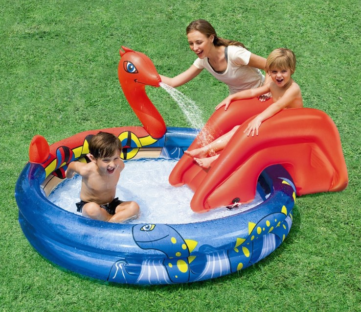 VILEAD 203*165 CMPirate Ship Amusement Slide Fountain Iflatable Pool Baby Bath Ball Swimming Pool Family Swimming Pool 308 L 6 4 4m bounce house combo pool and slide used commercial bounce houses for sale