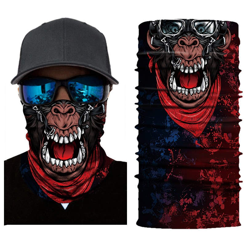 Cycling Motorcycle Head Scarf Neck Warmer Face Mask Ski Balaclava HeadbandMask Scary Halloween Face Shield OutdoorZ0301
