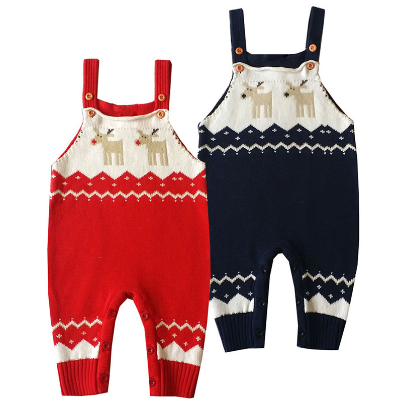 Newborn Christmas Rompers Baby Boy Crochet Costume Deer Knitted Bib Romper Long Sleeve Strap Jumpsuit New Born Bebe Clothing 8 5 12 inch portable lcd handwriting board with pen electronic writing pad drawing tablet notepad for home office em88