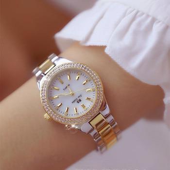 2019 Luxury Brand lady Crystal Watch Women Dress Watch Fashion Rose Gold Quartz Watches Female Stainless Steel Wristwatches дамски часовници розово злато