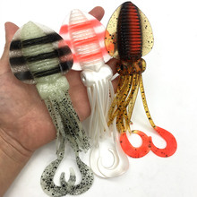 12 см/15 см/18 см, Мягкая приманка для рыбалки, светящаяся/УФ-приманка для кальмара, приманка для ловли Туна, осьминог, юбки для морской рыбалки, воблер, приманка, приманка