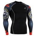 WHOLESALE! Men's Compression Shirts Fitness & Exercise Base Layer Tights Superman Bodybuilding MMA Tops Shirt Professional Amour