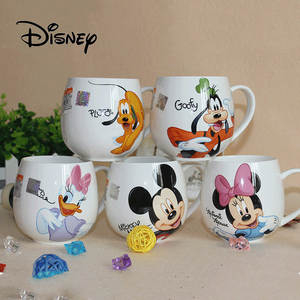 Disney Cup Ceramic-Cup Mouse Duck-Goofy Coffee Pluto Cartoon-Pattern Donald Office Hot
