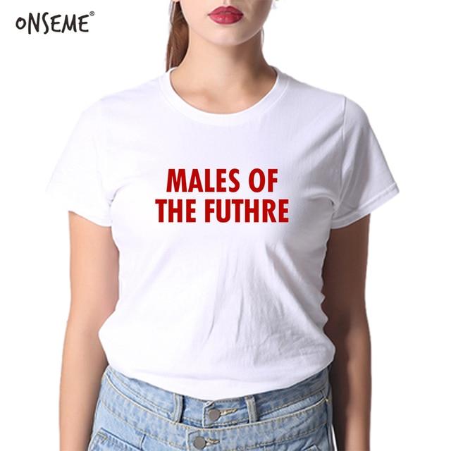 ONSEME Korean 2018 Summer Clothes Made Self Males of the Futhre T-shirt Women Short Cotton Ulzzang Fashion Basic T-shirts