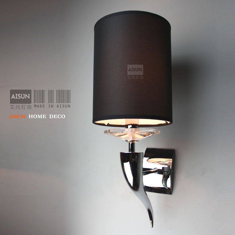 Post-modern minimalist personality Art claw horn antler wall lamp bedroom bedside lamp fabric wall light