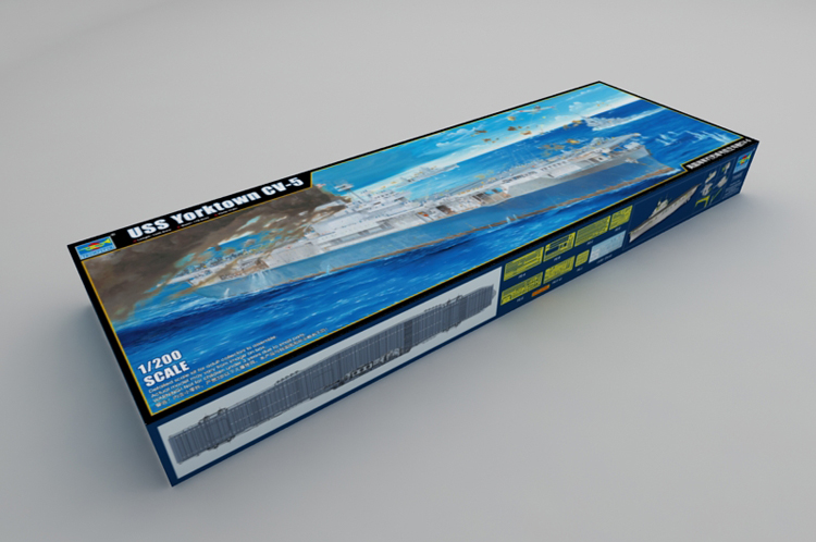 <font><b>Trumpeter</b></font> 1/200 03711 USS YORKTOWN CV-5 SHIP model kit image