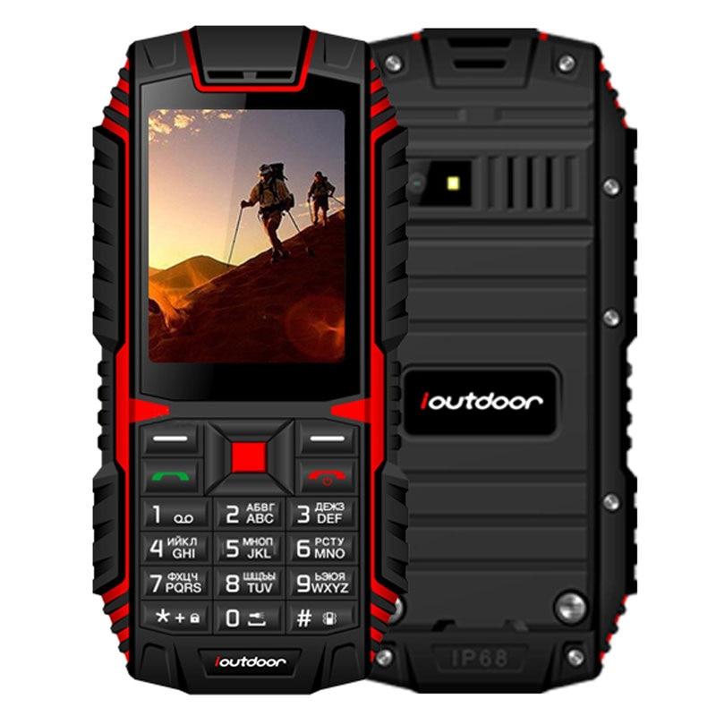 Jeasung ioutdoor T1 2g Caratteristica Del Telefono IP68 Antiurto telefono mobile telefonu 2.4 ''128M + 32 m GSM 2MP FM telefon Celular 2100 mah