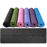 Body Position Line 1830x610x6mm Yoga Mat Large For Any Yoga Poses Multifuctional Sports Pilates Gym Exercise Pad