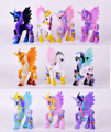 Frete grátis 10 estilos 14 cm cavalo Brinquedos de PVC, Kawaii Bonito Unicórnio Poni Anime Figura Coleção Toy do Presente de Aniversário