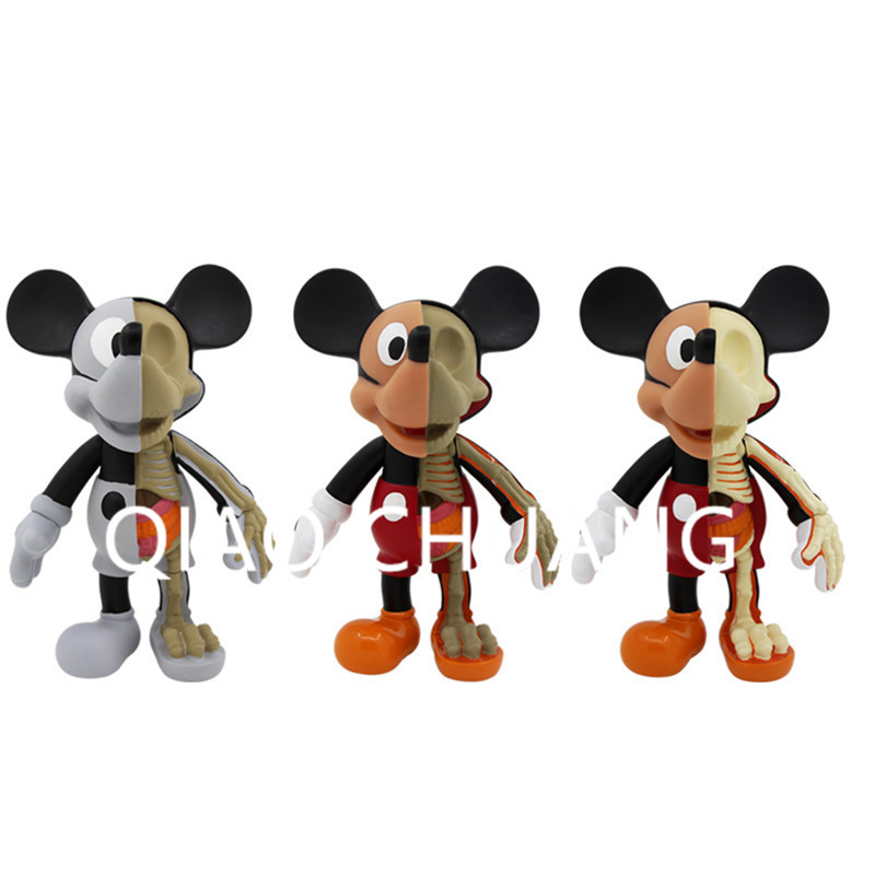 Street Art Medicom Toy Dissection Mickey Mouse Cosplay KAWS PVC Action Figure Collection Model Toy G1204 28 70cm 1000% bearbrick be rbrick attack on titans action toy figure medicom toy art work great gift for friends