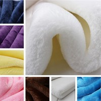 VELBOA Short Plush Fabric 150 50cm Thickening 100 Polyester Soft DIY Cloth For Coat Toys Carpet