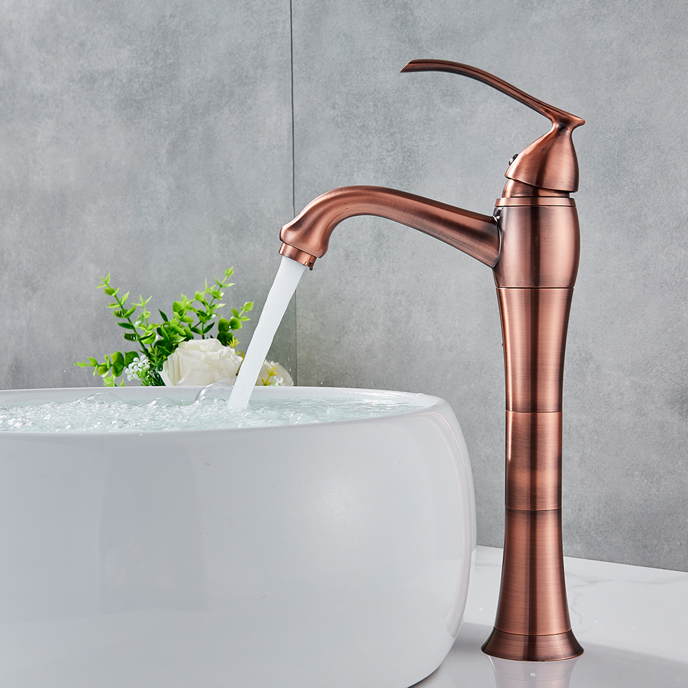 цена на Antique Copper Bathroom Kitchen Basin Sink Faucet Mixer Tap Single Handle Single Hole Solid Brass Deck Mounted Hot and Cold