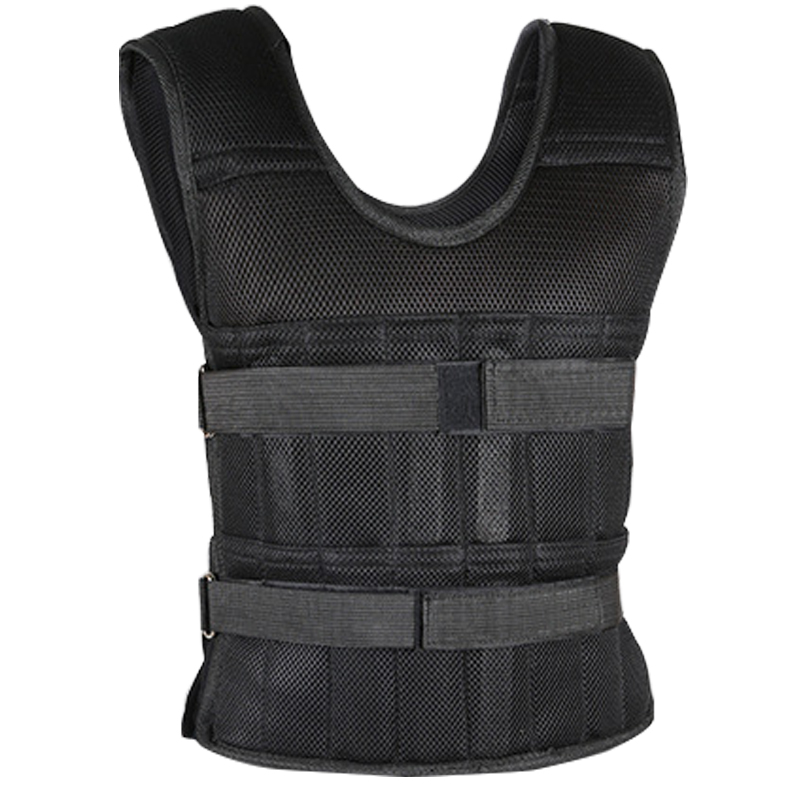 Adjustable Weight Vest 50kg 20kg 15kg Load Running Workout Training Waistcoat Sand Weighted Sandbag Vest Loading Weighted Vest adjustable weighted vest ultra thin breathable workout exercise carrier vest for training fitness weight bearing equipment page 4