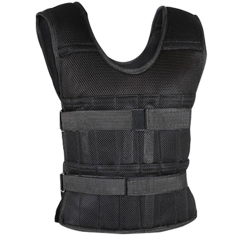 Adjustable Weight Vest 50kg 20kg 15kg Load Running Workout Training Waistcoat Sand Weighted Sandbag Vest Loading Weighted Vest