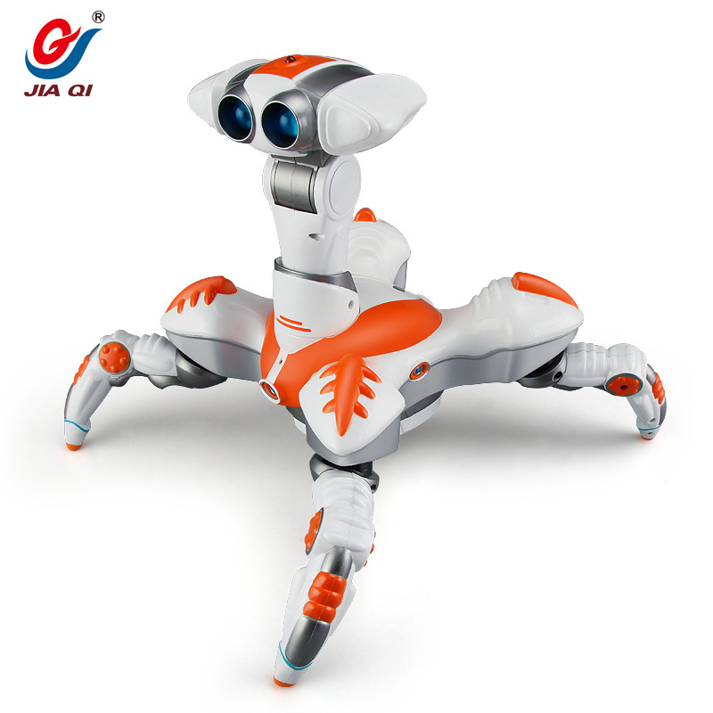 Kids toy Space dancing robot LZ444 Lightweight Electronics Creative infrared electric music rotating light remote control robot - 4