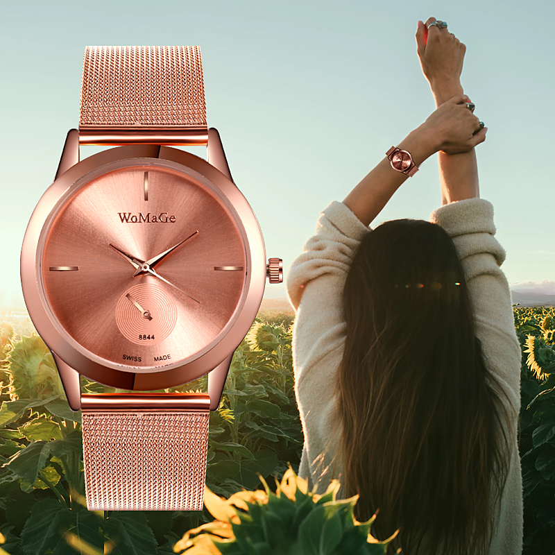 Fashion Women Rose Gold Flower Rhinestone Wrist Watches Luxury Casual Female Quartz Watch Clock Relogio Feminino Women Watch
