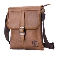 BULLCAPTAIN Men's Genuine Leather Bag New Shoulder Bag Crossbody Small Men's Business Messenger Bag