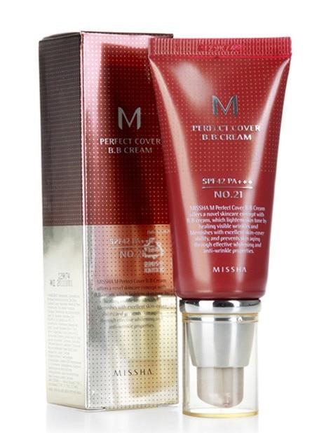 100% original korea Makeup MISSHA PERFECT COVER #23 BB cream SPF42 50ml new with box foundation