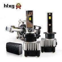 HLXG 2 шт. 72W фары для 8000LM H1 H3 H4 H7 H11 светодиодный автомобильный светильник головной светильник лампы 12V Светодиоды с чипом CSP H8 H9 9005 9006 6000K идеально подходит для резки линии