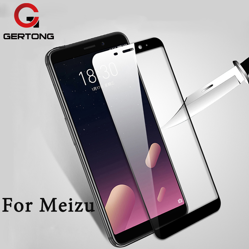 GerTong Full Cover Tempered Glass For <font><b>Meizu</b></font> <font><b>M6S</b></font> M6 Note Screen Protector For <font><b>Meizu</b></font> M5 Note M5C M5S Black White Protective Film image