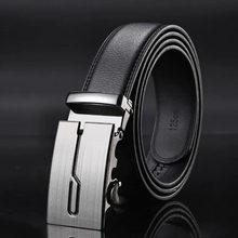 f60e436a6b9d Véritable Ceintures En Cuir pour Hommes de Haute Qualité Mâle Marque Automatique  Ratchet Boucle ceinture 35mm