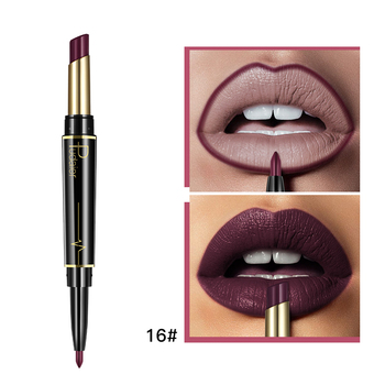 Pudaier Matte Lipstick Wateproof Double Ended Long Lasting Lipsticks Brand Lip Makeup Cosmetics Nude Dark Red Lips Liner Pencil 2