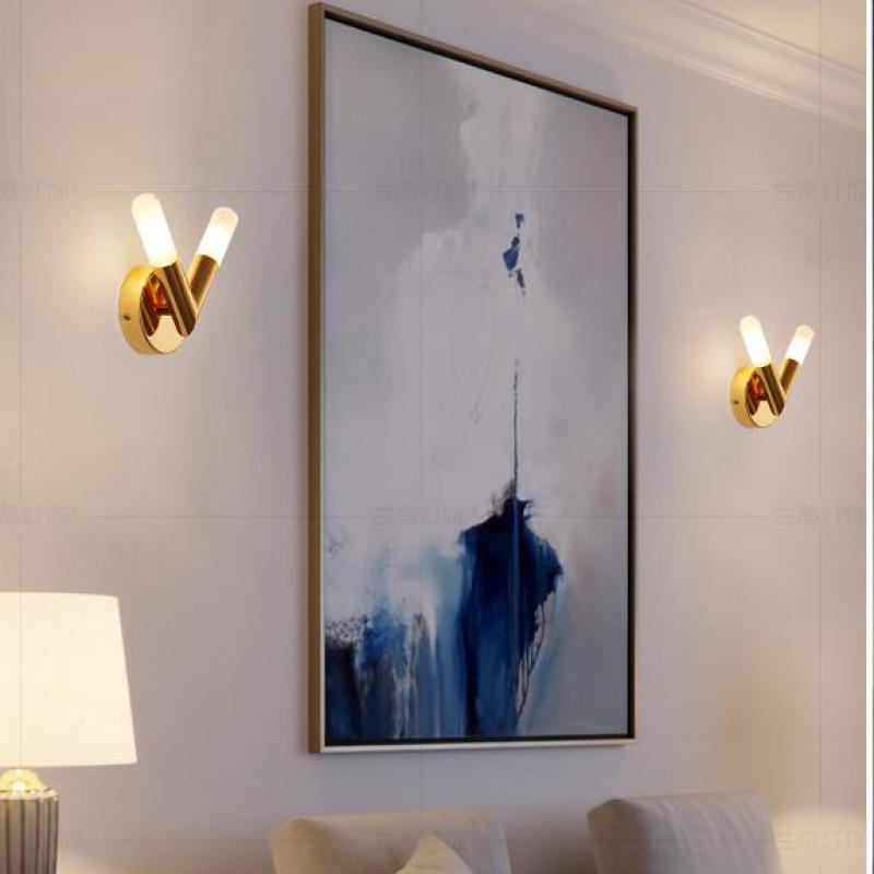 Gold VIP house Led Wall sconce modern Led indoor lighting home balcony G9 Led lamp Frosted Glass shade wall fixtures Aplik Lamba simple modern led wall lamp reading switch adjust wall light fixtures home fabric shade bedside wall sconce indoor lighting