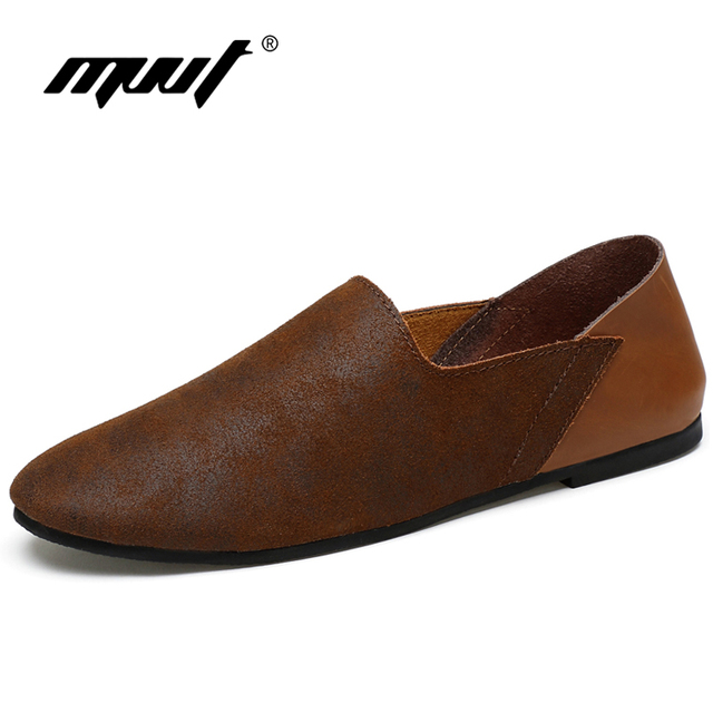 307e7865b85dc1 MVVT Super Soft Men Loafers Genuine Leather Casual Shoes Retro Moccasins  Men Shoes Summer Men s Footwear Men Flats For Driving