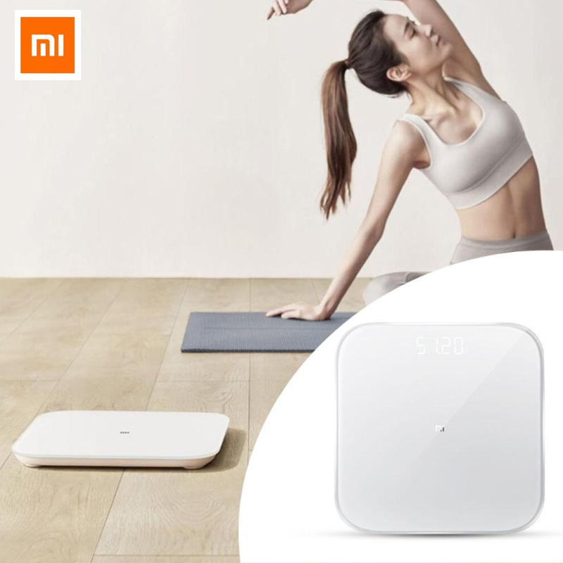 Original Xiaomi Smart Weighing Scale 2 Bluetooth 5.0 Precision Fitness Smart Weight Scales LED Display Digital Scale(China)