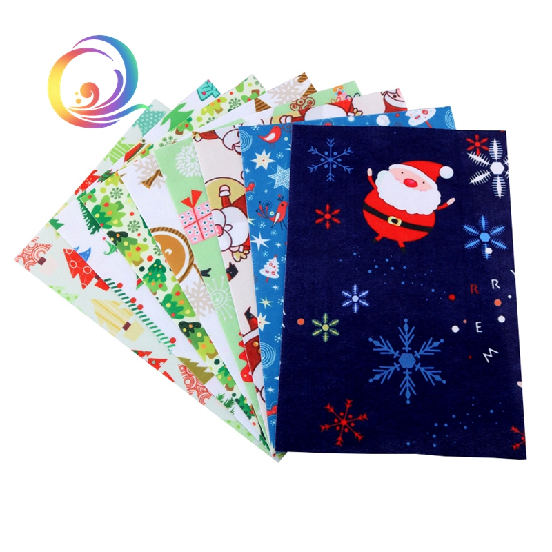Haisen,8pcs/Lot Christmas Series,Soft Felt,Printed Polyester NonWoven Felt Cloth,Home Decoration/Bag Or Sewing Crafts Material