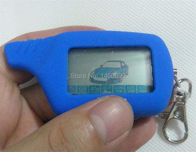 2 way LCD Remote Controller Keychain Key Fob Chain with LOGO Silicone Key Case for Two