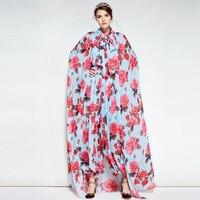 2018 Весна Fashin с цветочным принтом Шелковый Для женщин Комбинезоны элегантный высокое качество довольно мягкий Для женщин милые мягкие комби