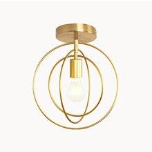 Креативный Железный промышленный ветровой потолочный светильник с пентаграммой в стиле ретро, круглый E27, черный/золотой потолочный светильник для ресторана, бара, кофейни
